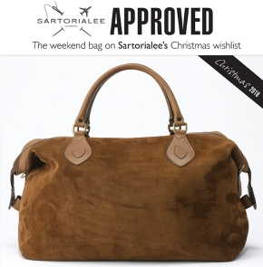 Sartorialee Approved: Tusting Explorer Snuff Kudu suede holdall
